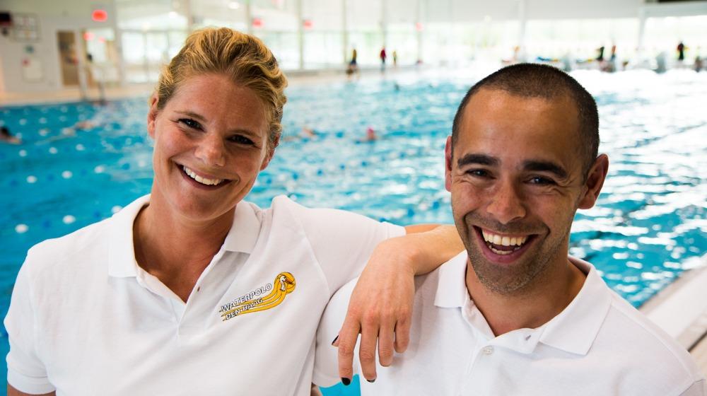 Joey den Beer & Noeki Klein voor Waterpolo Den Haag