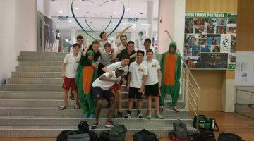 De jeugd van Waterpolo Den Haag weer te gast bij Clube Fluvial Portuense